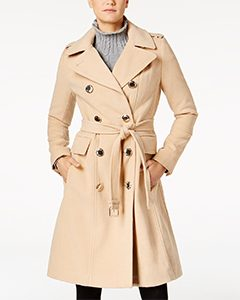 Double-Breasted Trench Coat | Hermosaz