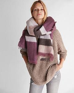 Color Block Stripe Blanket Scarf | Hermosaz