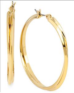 Double Hoop Earrings in 14k Gold over Sterling Silver   Hermosaz