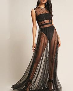 Kikiriki Sheer Mesh Dress | Hermosaz