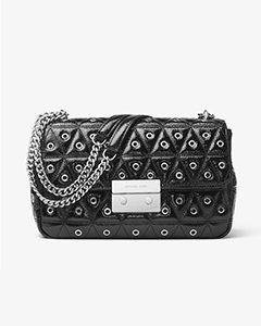 Sloan Grommeted Leather Shoulder Bag | Hermosaz