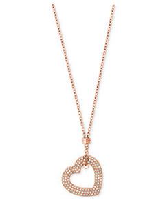Michael Kors Crystal Heart Logo Jewelry   Hermosaz