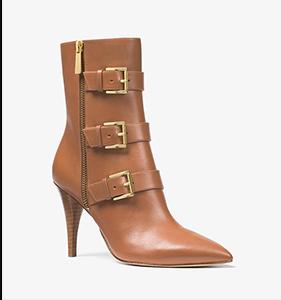 Michael Michael Kors Lori Leather Mid-Calf Boot | Hermosaz