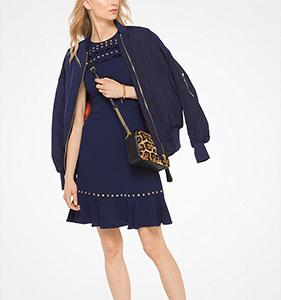 Michael Michael Kors Studded Crepe Dress | Hermosaz