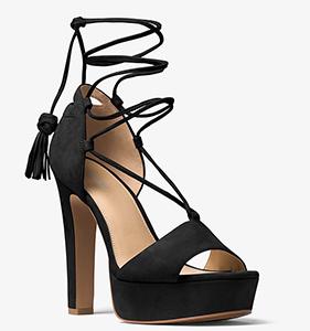 Michael Michael Kors Rosalie Suede Lace-Up Platform Sandal | Hermosaz