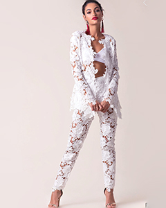 Louise Crochet Blazer | Hermosaz