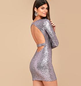 Star Sighting Lavender Backless Sequin Bodycon Dress | Hermosaz