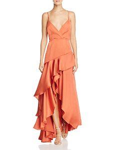 Asymmetric Ruffle Gown | Hermosaz