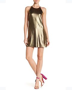 Liquid & Flare Metallic Dress | Hermosaz