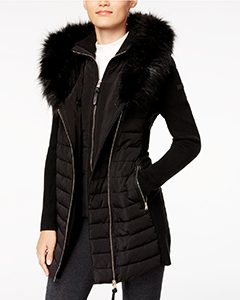 Faux-Fur Hooded Puffer Jacket | Hermosaz