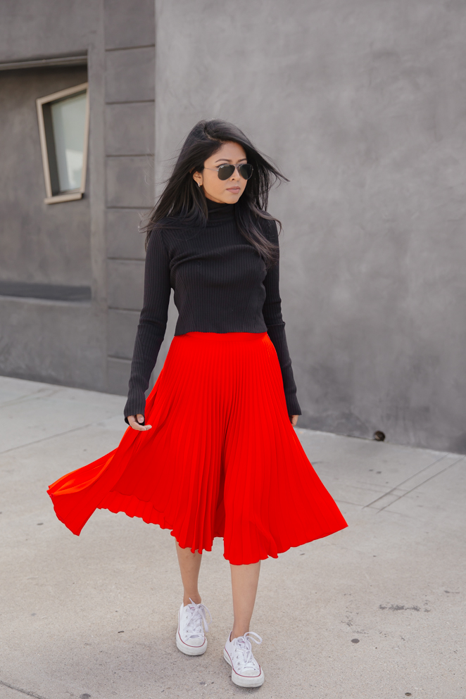 Red Winter Skirt | Hermosaz
