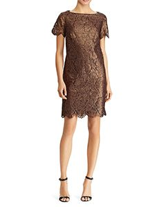 Short-Sleeve Lace Dress | Hermosaz
