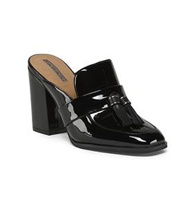 Tahari Patent Tassle Loafer Mules   Hermosaz