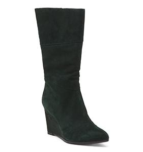 Artelier Nicole Miller Suede Wedge Boots   Hermosaz