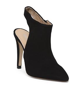 Gianni Negrori Open Back Suede High Heel Sandals   Hermosaz