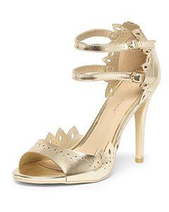 Vero Moda Gold 'Amsterdam' Sandals | Hermosaz