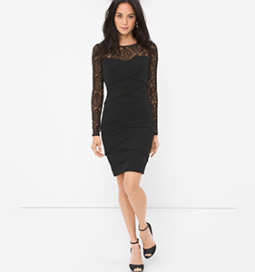 LACE INSTANTLY SLIMMING DRESS | Hermosaz