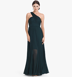 ONE-SHOULDER PLEATED GOWN | Hermosaz