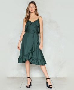 Wrap Up Ruffle Dress | Hermosaz