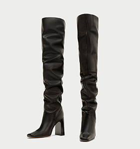 OVER-THE-KNEE HIGH HEEL LEATHER BOOTS | Hermosaz