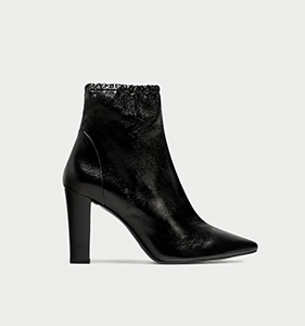 IGH HEEL POINTED LEATHER ANKLE BOOTS | Hermosaz