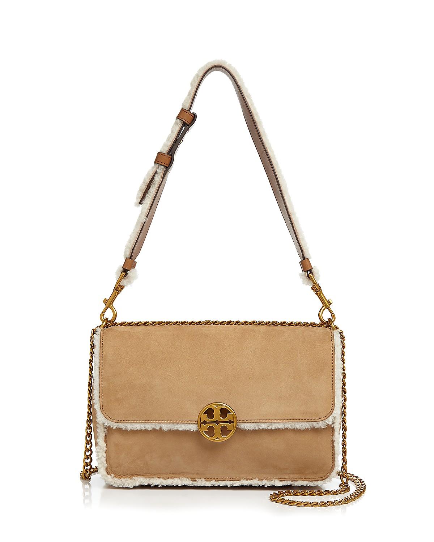 Chelsea Faux-Shearling Shoulder Bag   Hermosaz