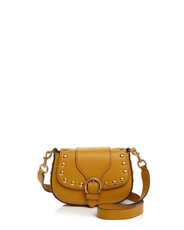 Navigator Studded Small Leather Saddle Bag   Hermosaz