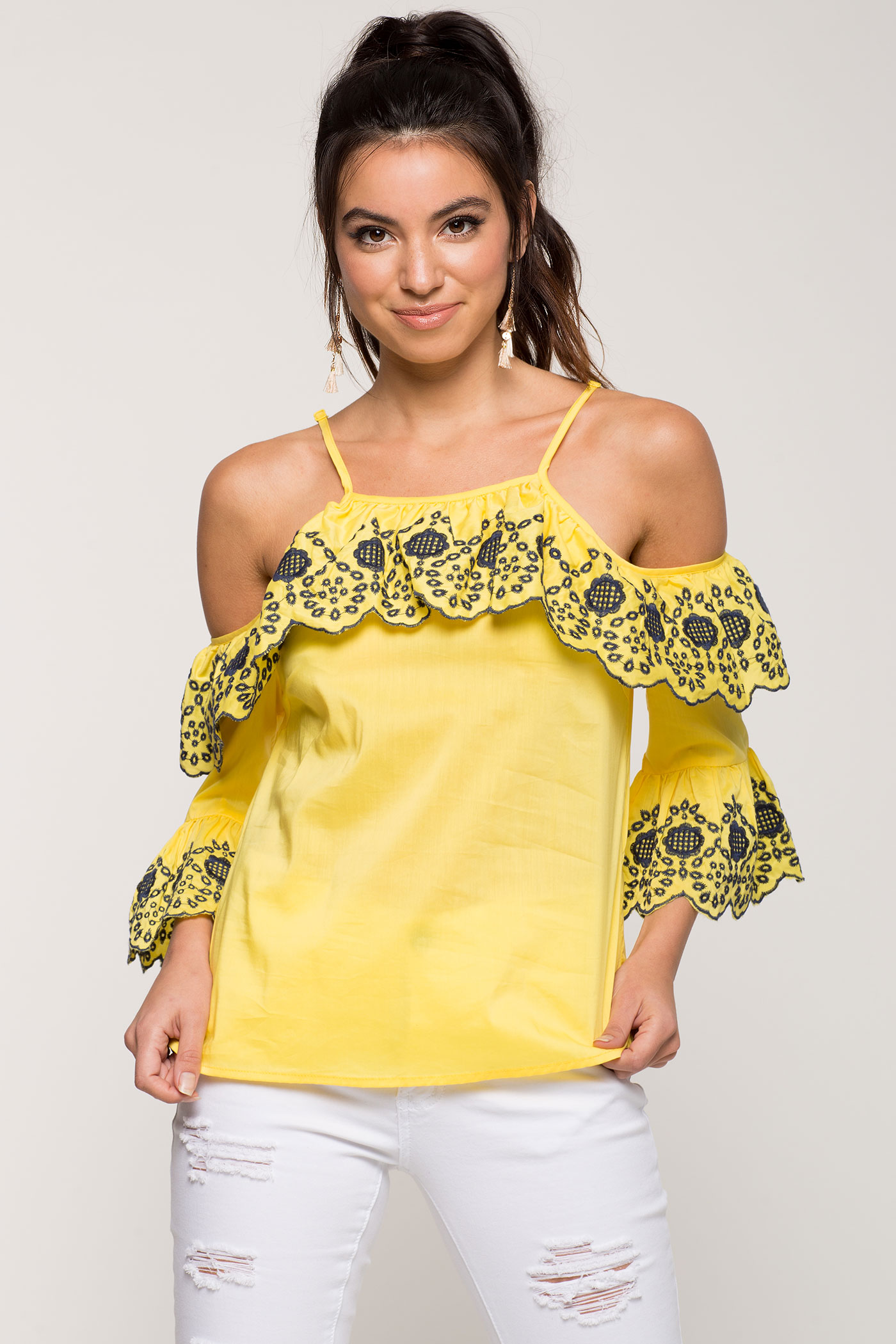 Lola Cold Shoulder Top | Hermosaz