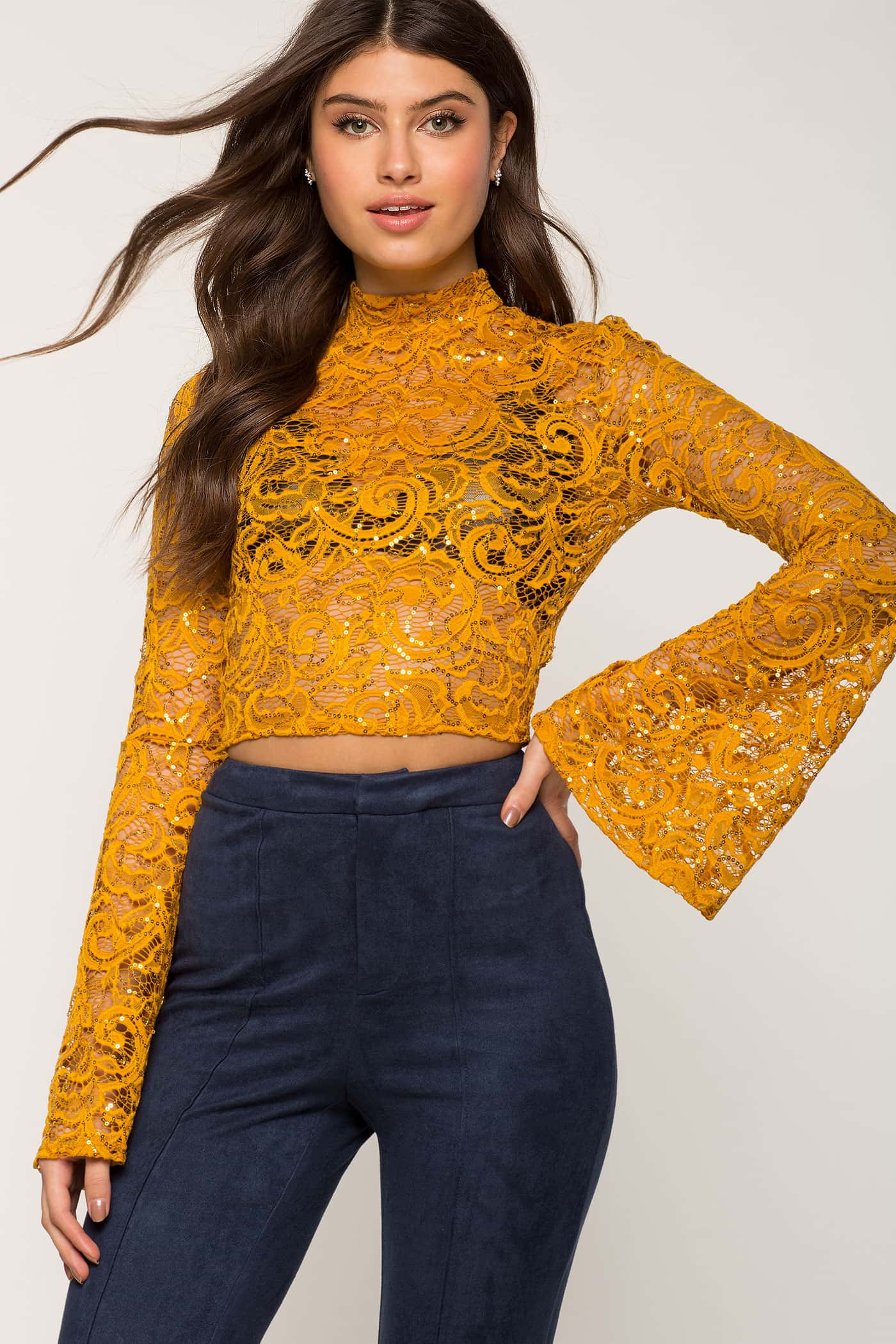 Ring My Bell Lace Crop | Hermosaz