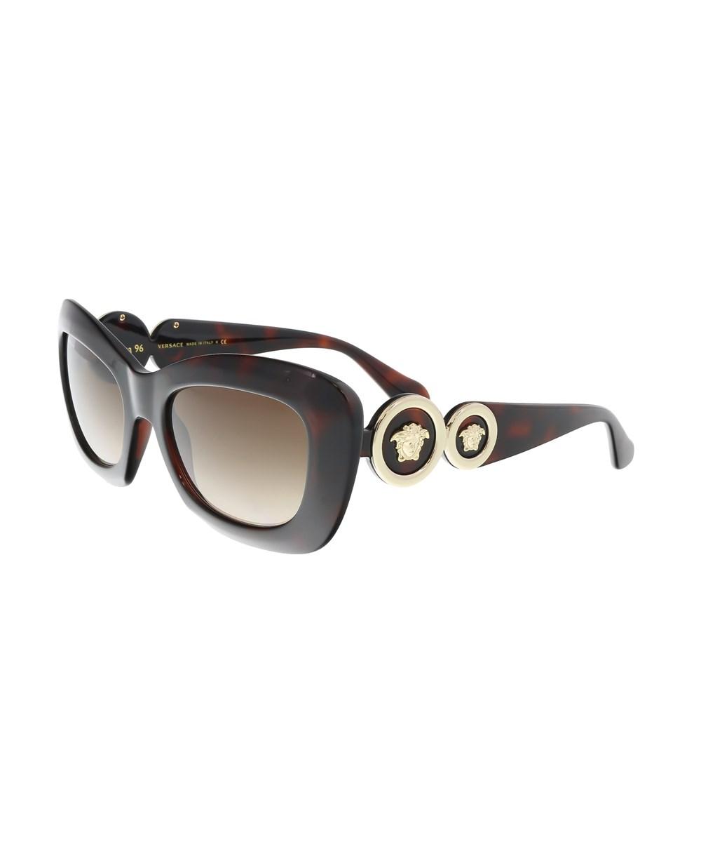 Versace Ve4328 521213 Havana Rectangle Sunglasses | Hermosaz