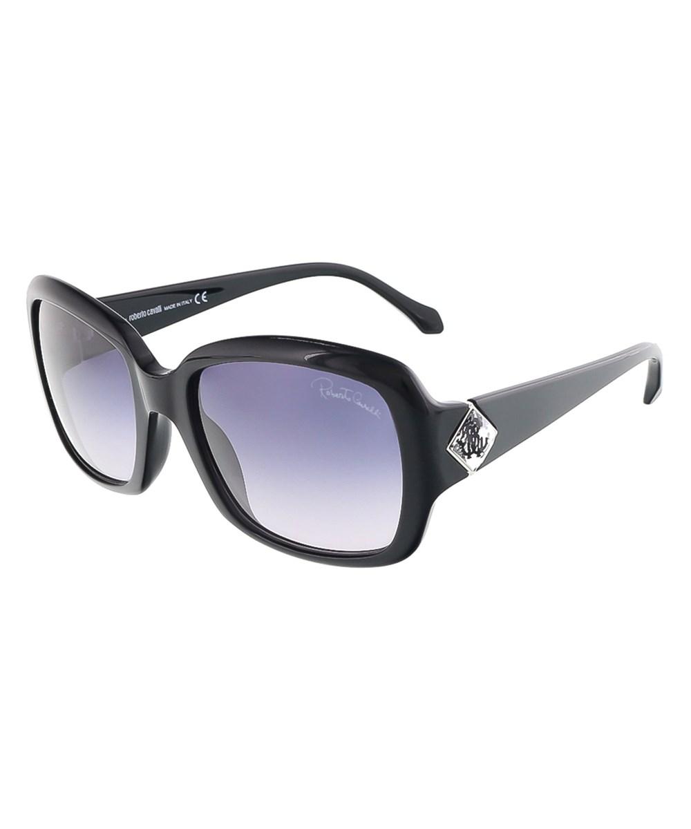 Roberto Cavalli Rc881s/S 01b Maia Shiny Black Square Sunglasses | Hermosaz