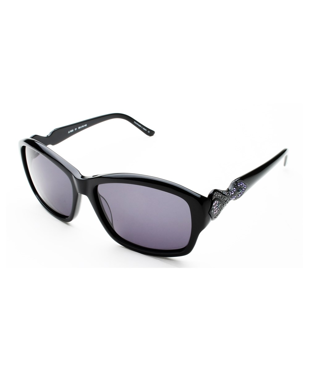 Judith Leiber Women's Persia Sunglasses Onyx | Hermosaz