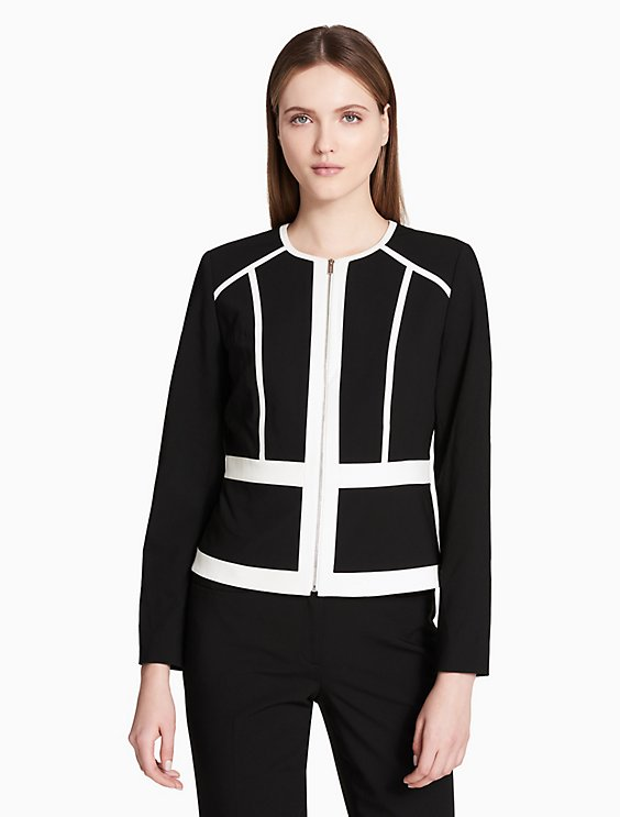 PIPED ZIP FRONT JACKET | Hermosaz