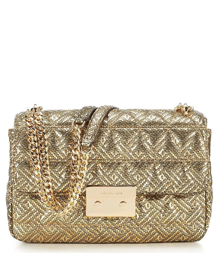 MICHAEL Michael Kors Sloan Metallic Quilted Shoulder Bag | Hermosaz