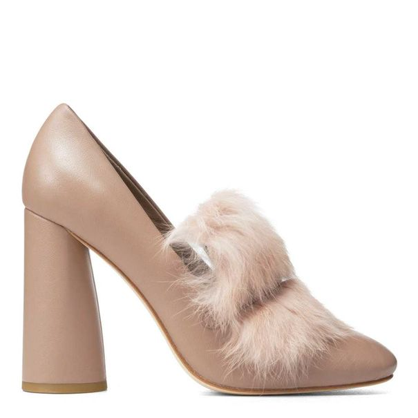 Faunne Nappa Leather and Fur Pump | Hermosaz