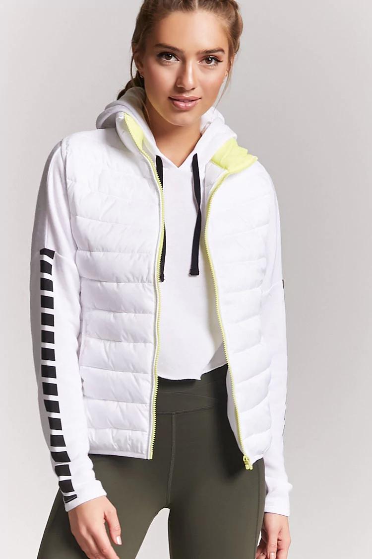 Active Contrast Puffer Vest | Hermosaz