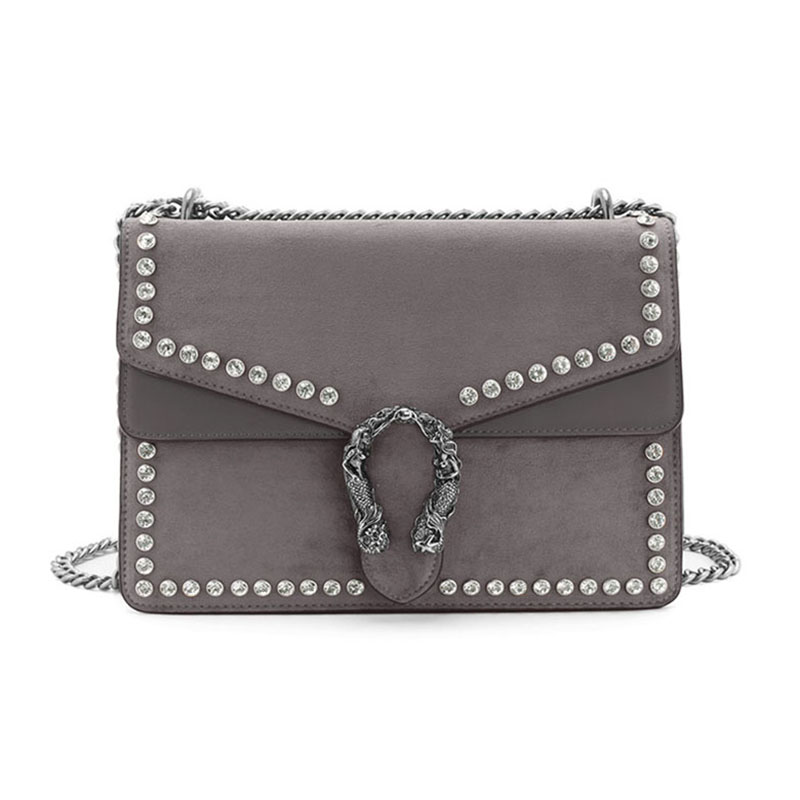 NITOR Mermaid Lock Diamante Detailed Cross Body Bag | Hermosaz
