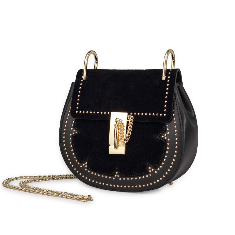 KELER Studded Metal Lock Cross Body Ba | Hermosaz