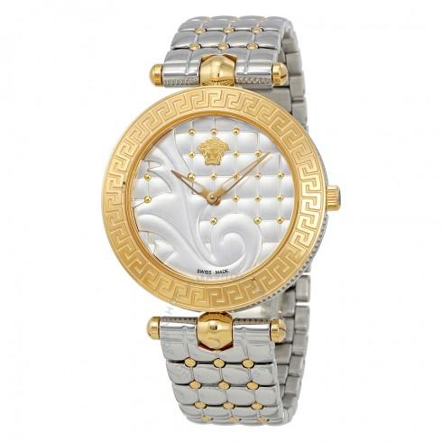 Versace Vanitas Silver Quilted Dial Ladies Watch | Hermosaz