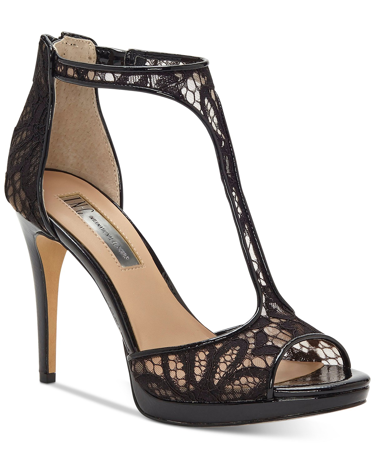 INC International Concepts Sherene T-Strap Evening Sandals | Hermosaz