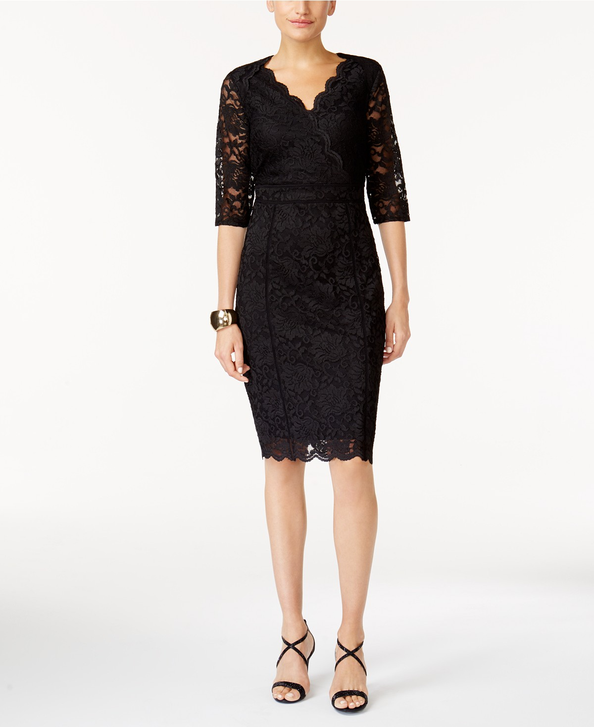 Thalia Sodi Lace Sheath Dress, Created For Macy's | Hermosaz