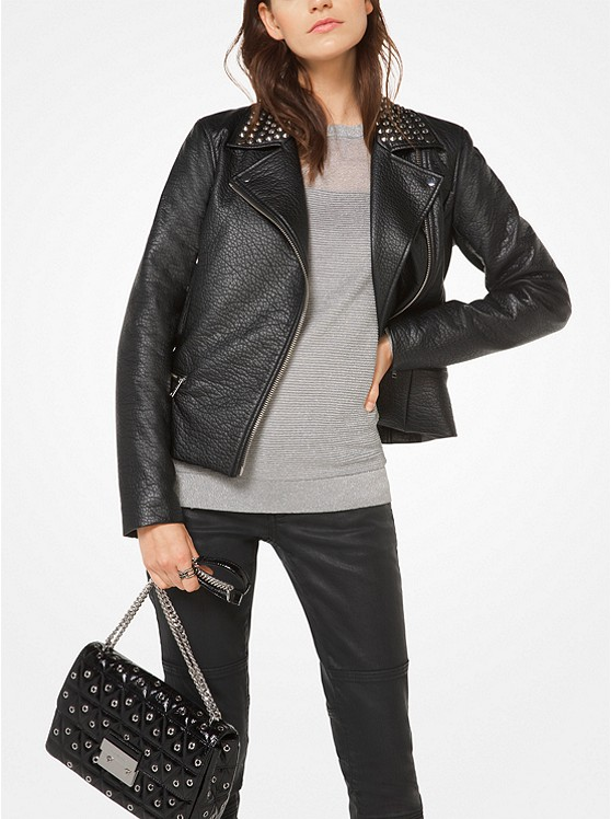 Michael Michael Kors Studded Faux-Leather Jacket | Hermosaz
