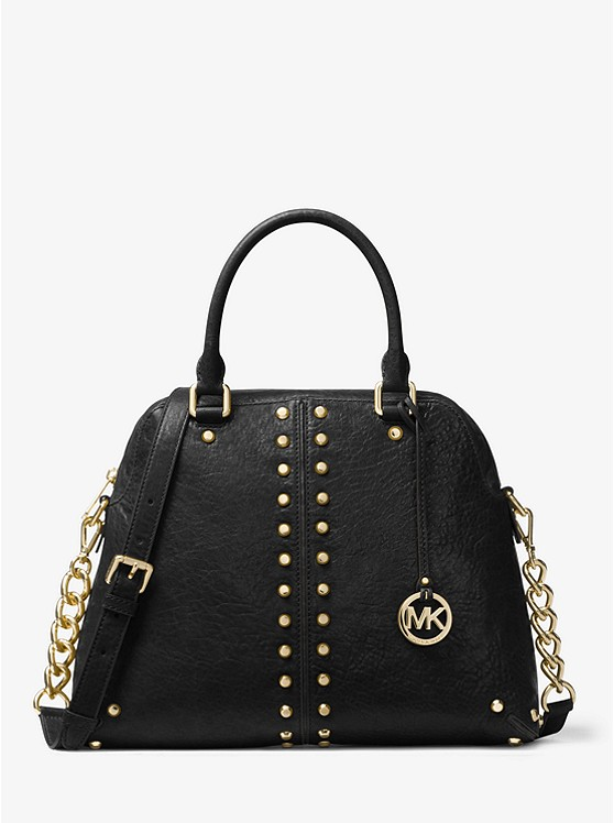 Michael Michael Kors Astor Large Studded Leather Satchel | Hermosaz