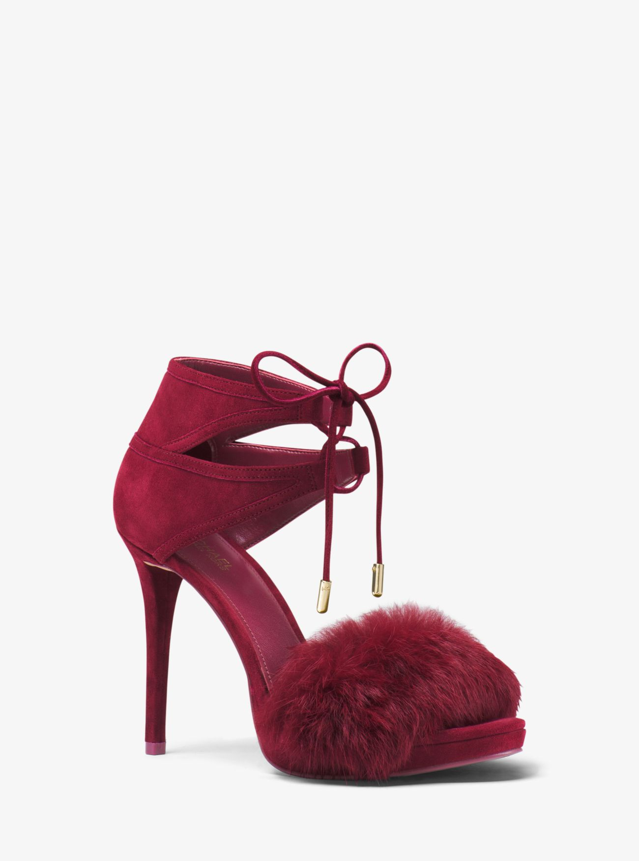 Remi Fur and Suede Sandal | Hermosaz