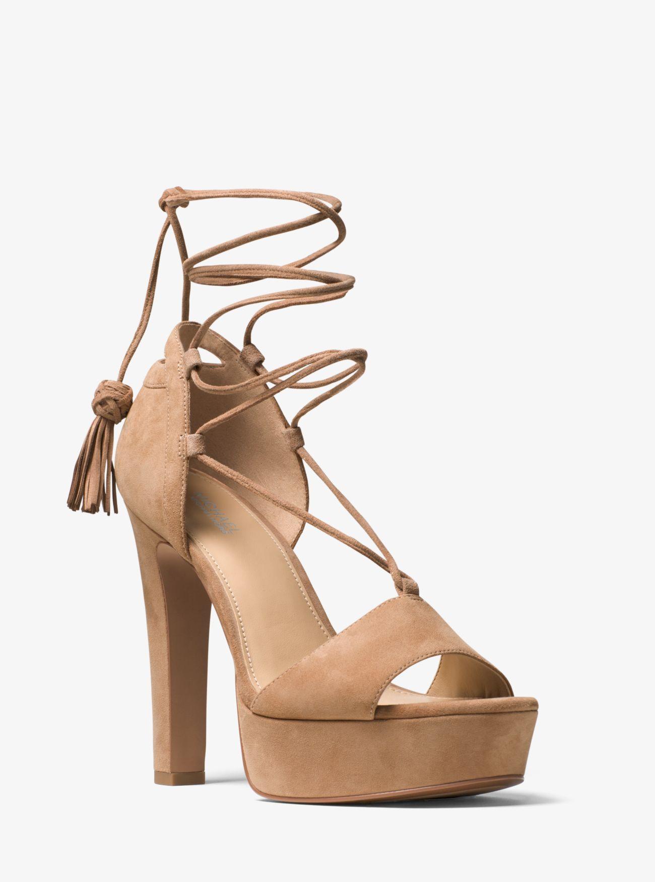 Rosalie Suede Lace-Up Platform Sandal | Hermosaz
