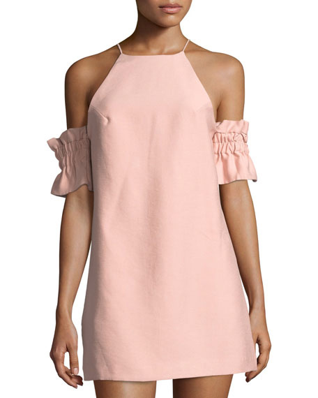 C/MEO Double Take Cold-Shoulder Mini Dress | Hermosaz