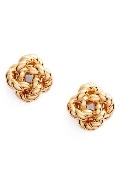 Rope Knot Stud Earrings | Hermosaz