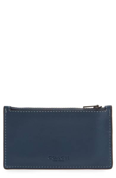 Zip Leather Card Case | Hermosaz