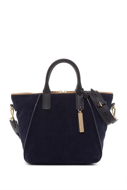 Vince Camute Alcia Small Suede & Leather Tote | Hermosaz