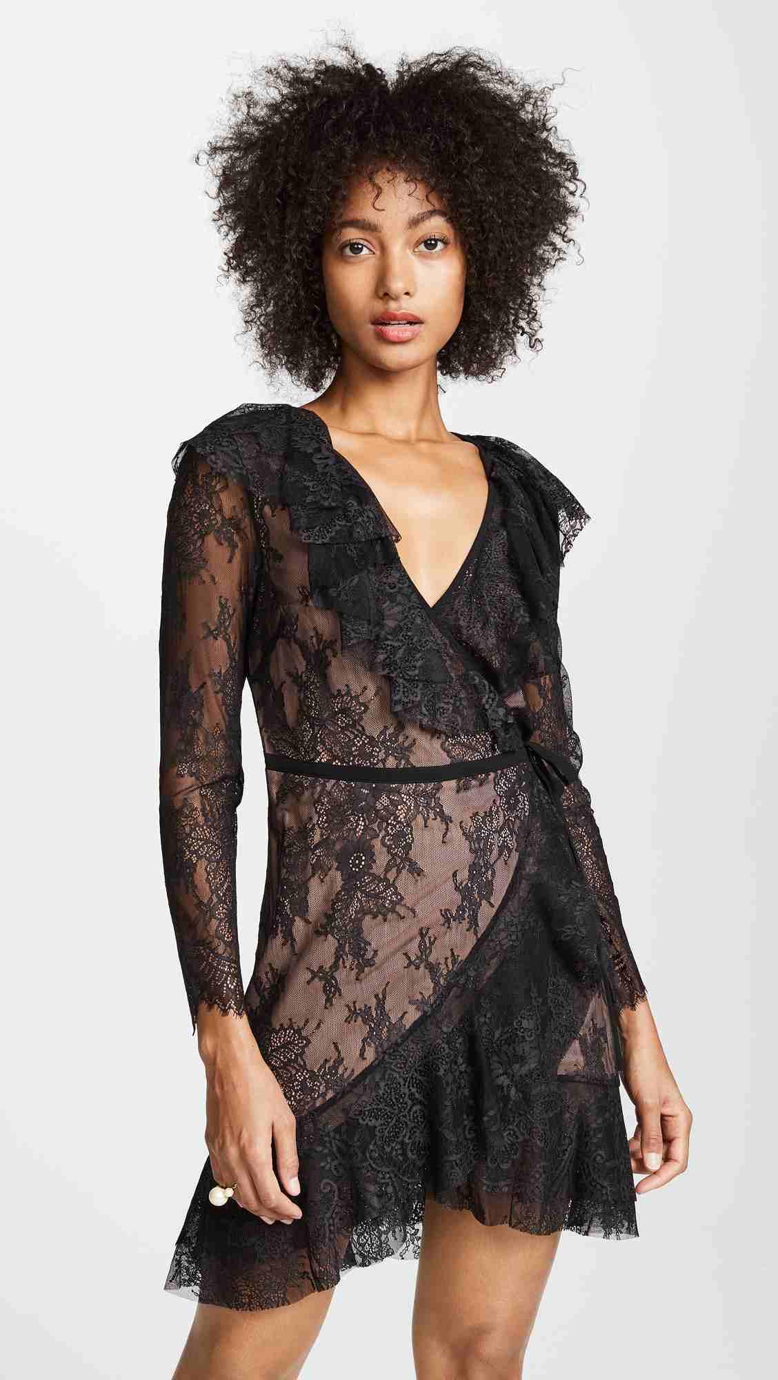 For Love & Lemons Daphne Lace Wrap Dress | Hermosaz
